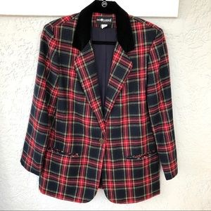 Sag Harbor Plaid Blazer